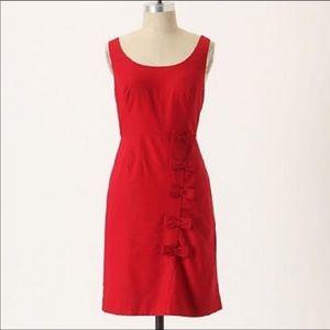 Moulinette Soeurs red cascading bows mini dress  2